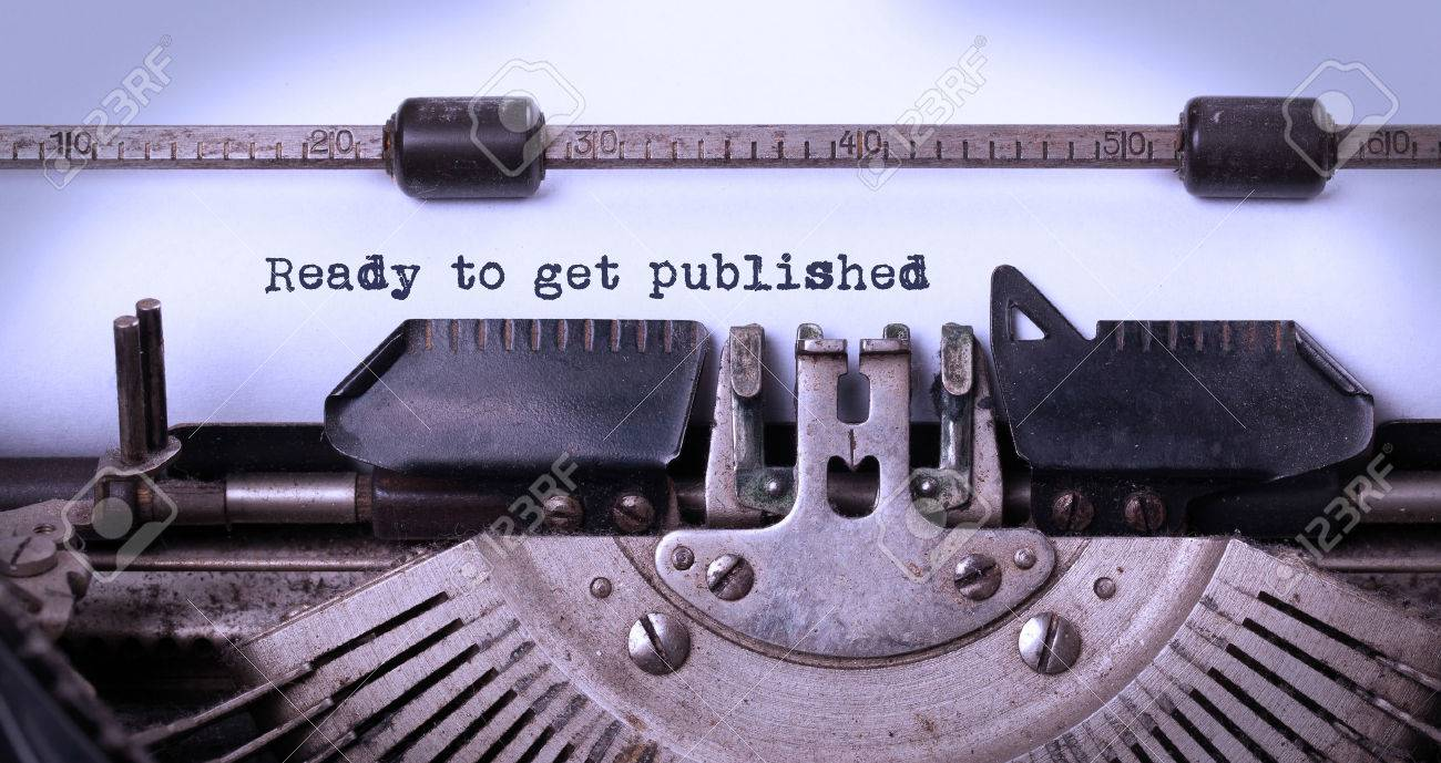 Vintage inscription made by old typewriter, ready to get published Stock Photo - 32589469