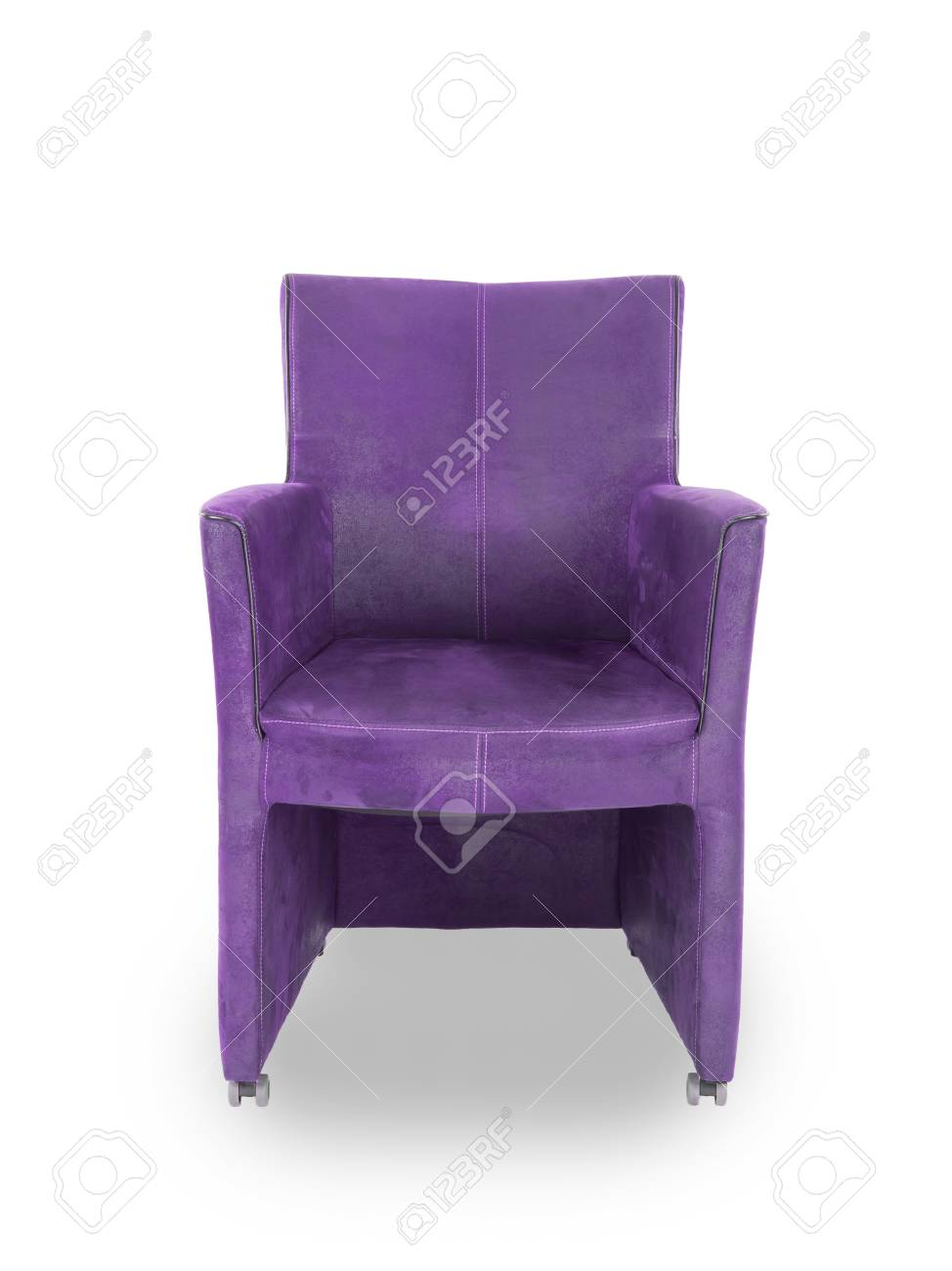 Fabulous Purple Leather Dining Room Chair Isolated On White Beatyapartments Chair Design Images Beatyapartmentscom