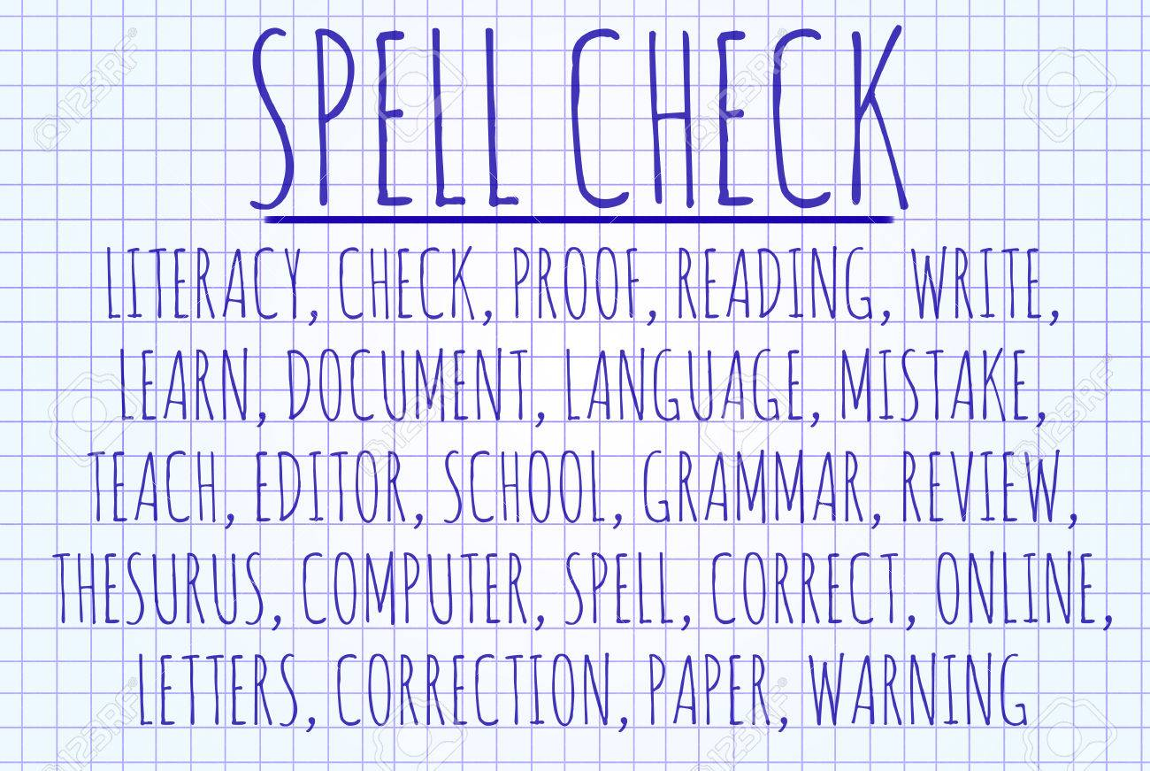 spell check word cloud written on a piece of paper stock photo spell check word cloud written on a piece of paper stock photo 43010005