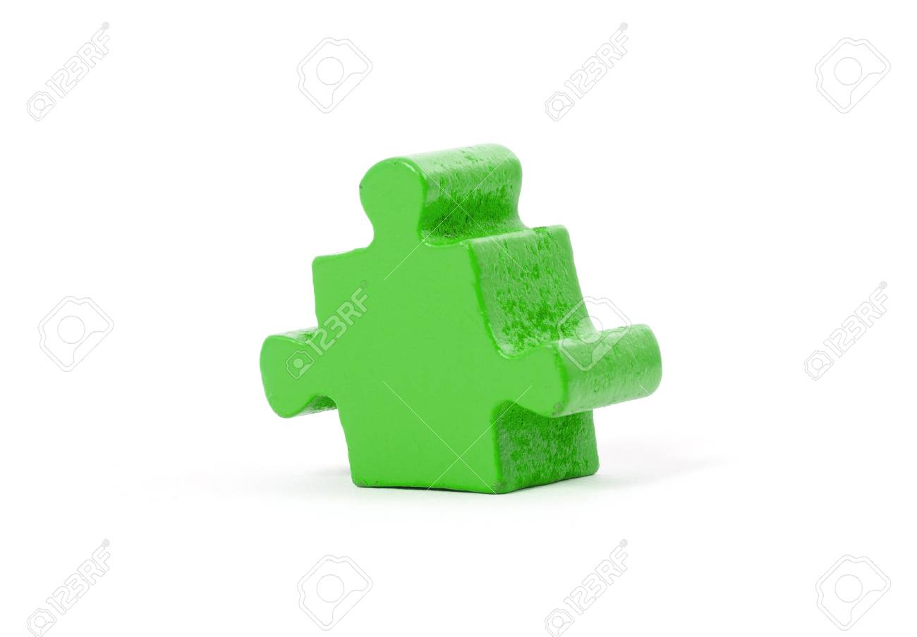 large jigsaw puzzle piece isolated on white stock photo picture