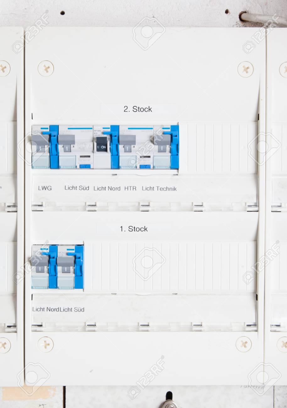 old german fusebox with blue buttons switzerland stock photo rh 123rf com Techwood PLR85 Receiver Techwood PLR85 Receiver