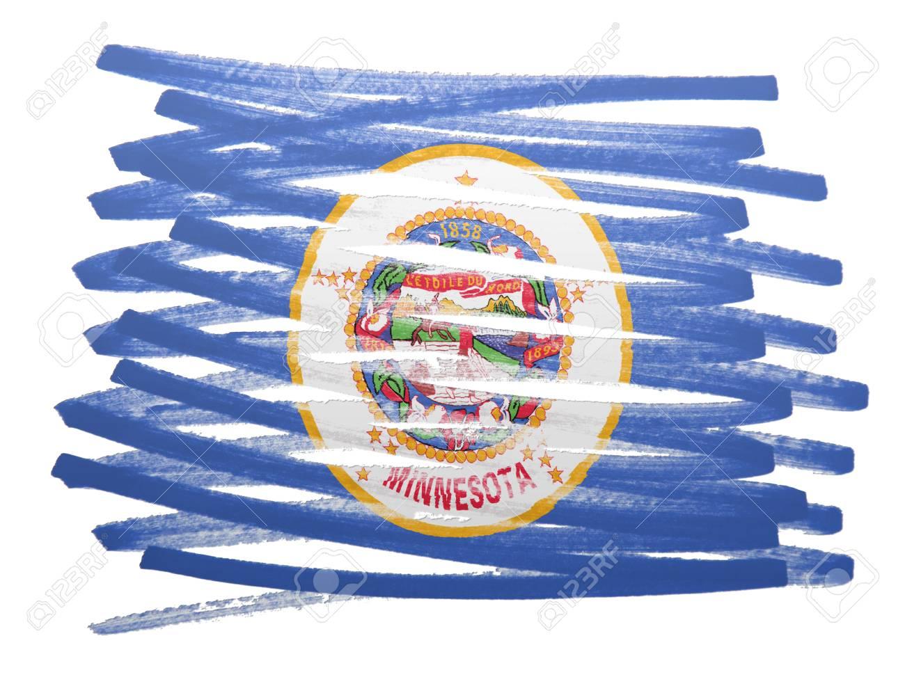 Ilustración De La Bandera Hecha Con Pluma - Minnesota Fotos ...