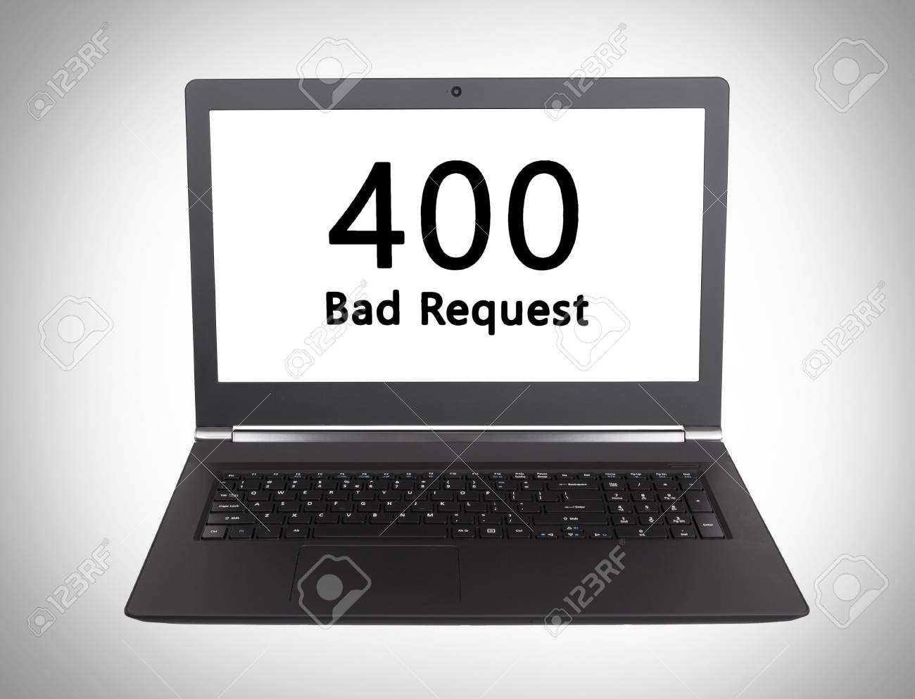 HTTP Status code on a laptop screen - 400, Bad Request