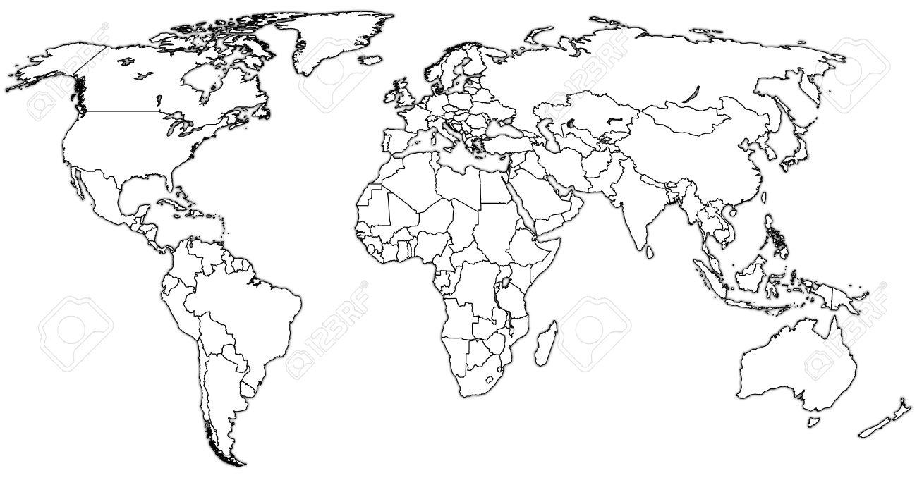 Vintage world map black and white lektonfo vintage world map black and white gumiabroncs Images