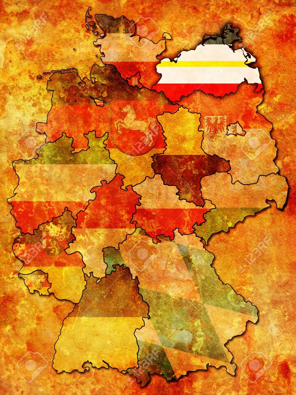 Mecklenburg Vorpommern Op Oude Administratie Kaart Van Duitse