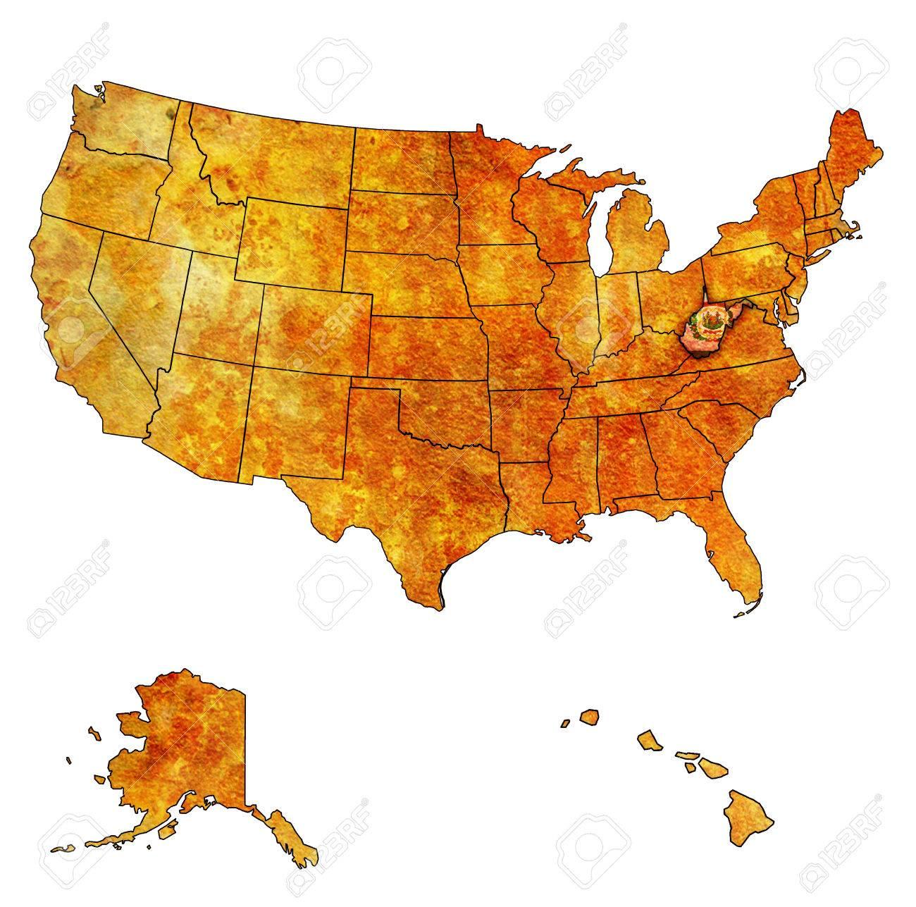 Virginia Usa Map Laminatoff West Virginia State Maps USA Maps Of - Usa map west virginia