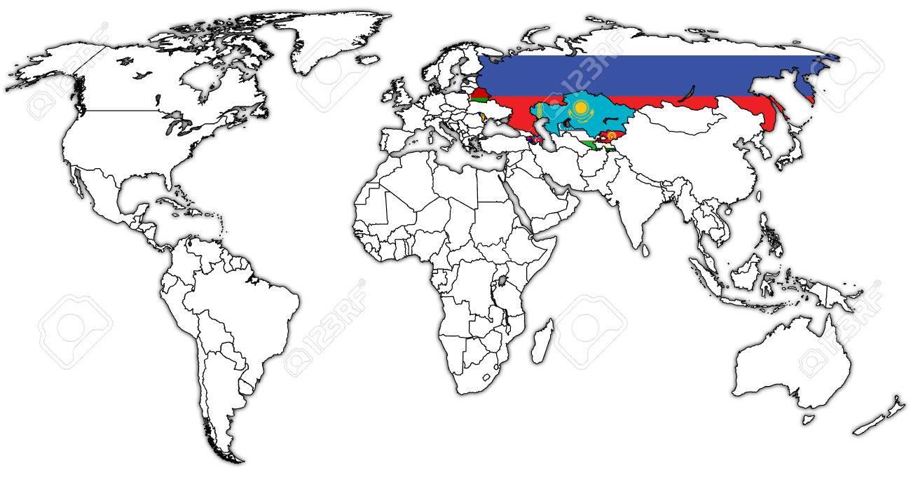 Cartina Degli Stati Del Mondo.Immagini Stock Comunita Degli Stati Indipendenti Sulla Mappa Del Mondo Con I Confini Nazionali Image 46922707