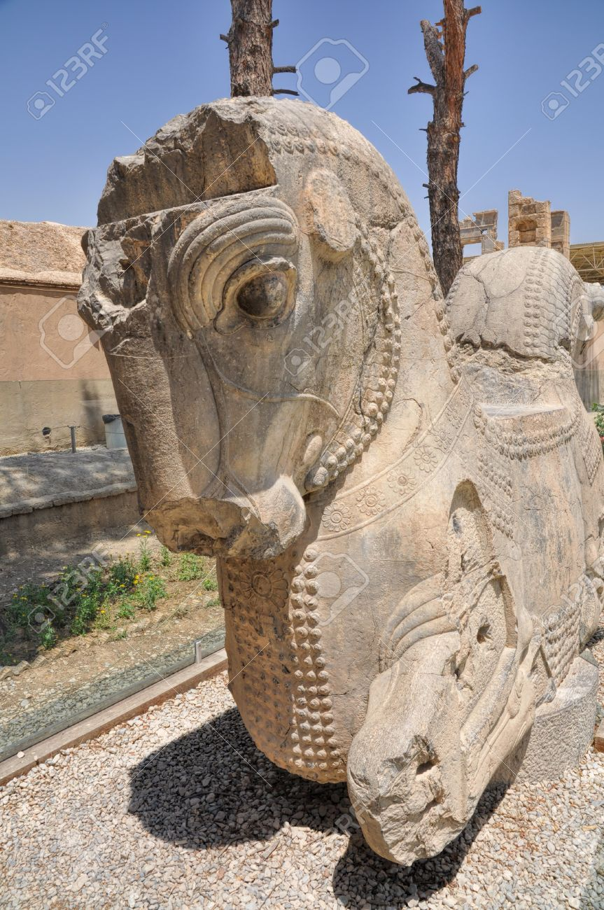 Statue Of Horse In Ruins Of Persian Capital Persepolis In Current Stock Photo Picture And Royalty Free Image Image 35843031