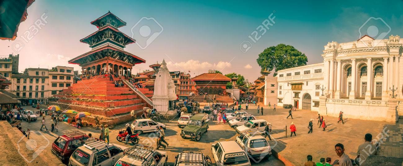 Kathmandu, Nepal - circa June 2012: Photo of cars in front of