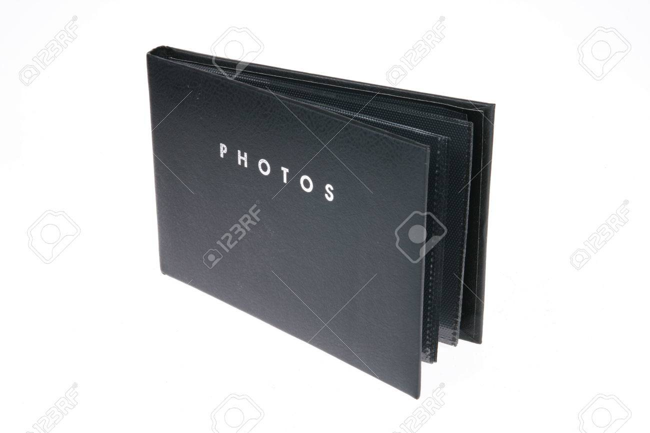 small black photo album on white stock photo picture and royalty