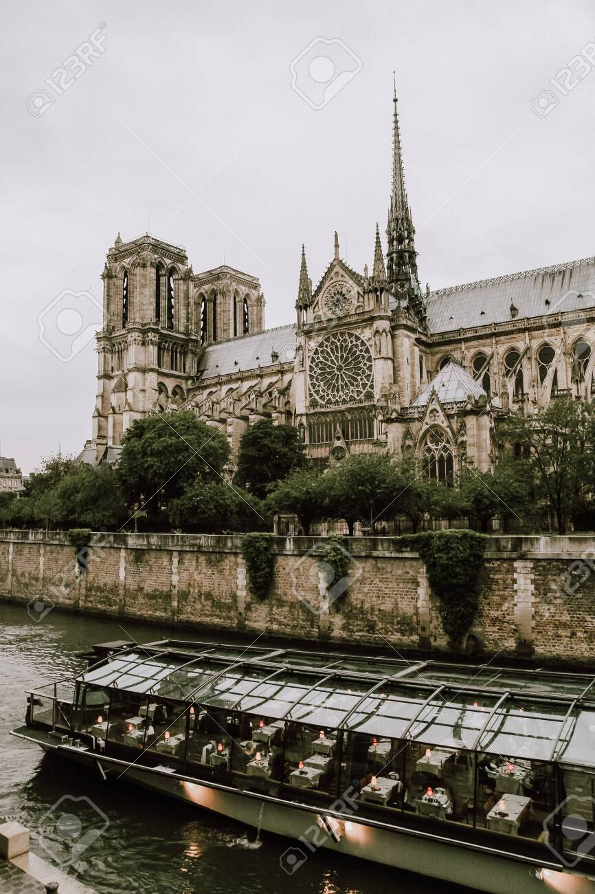 Notre Dame De Paris Cathedral Building And Tower Before Fire