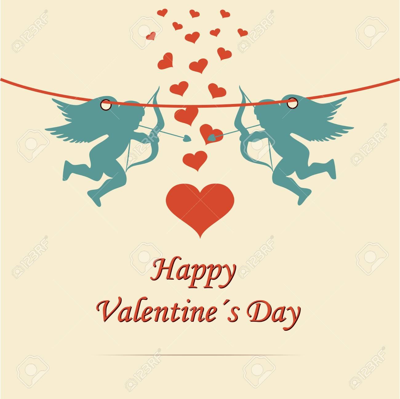 Marco Del Día De Fiesta Happy Valentines Día. Tarjeta De Diseño ...
