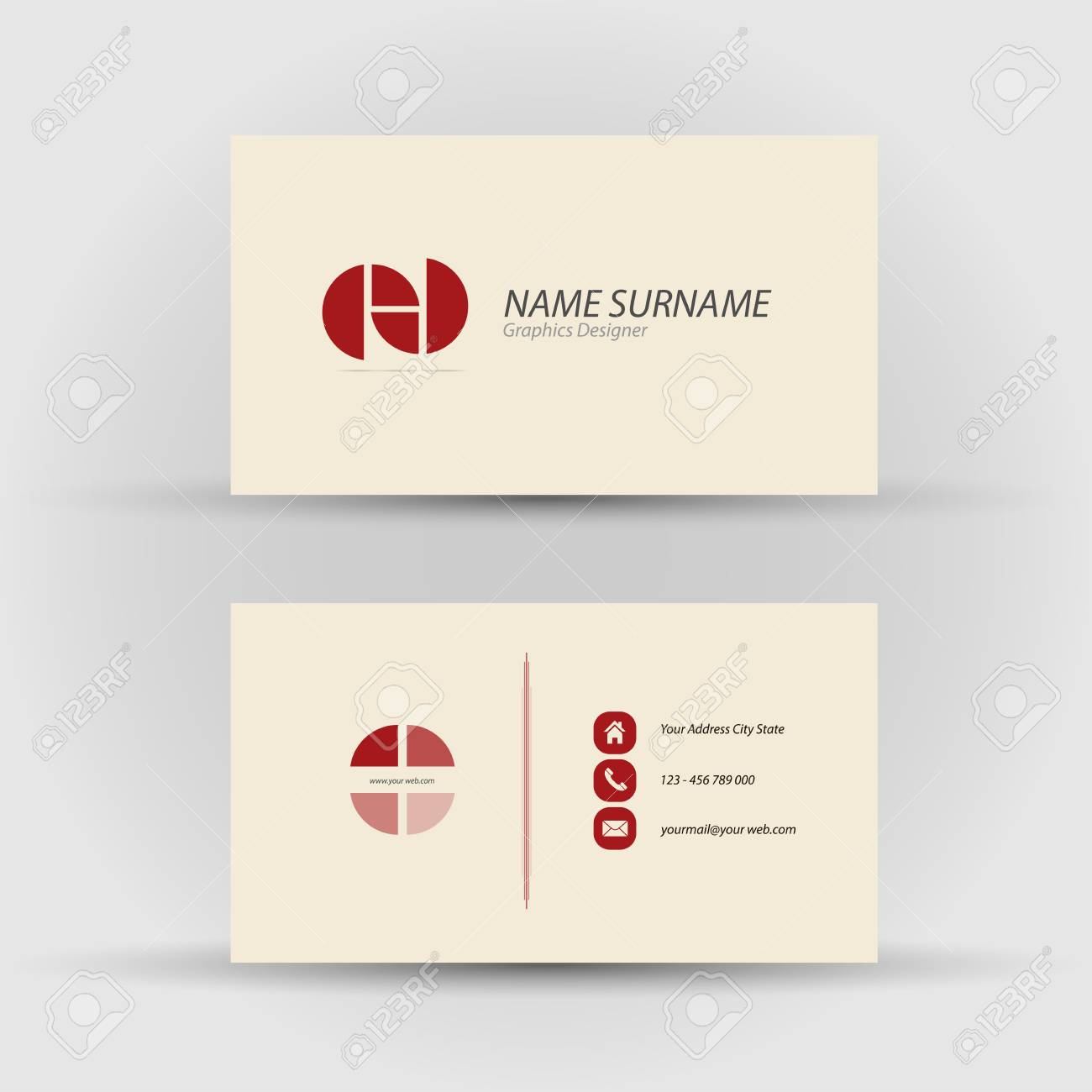 Set of modern vector business card template front and mack set of modern vector business card template front and mack side stock vector 31874378 reheart Images