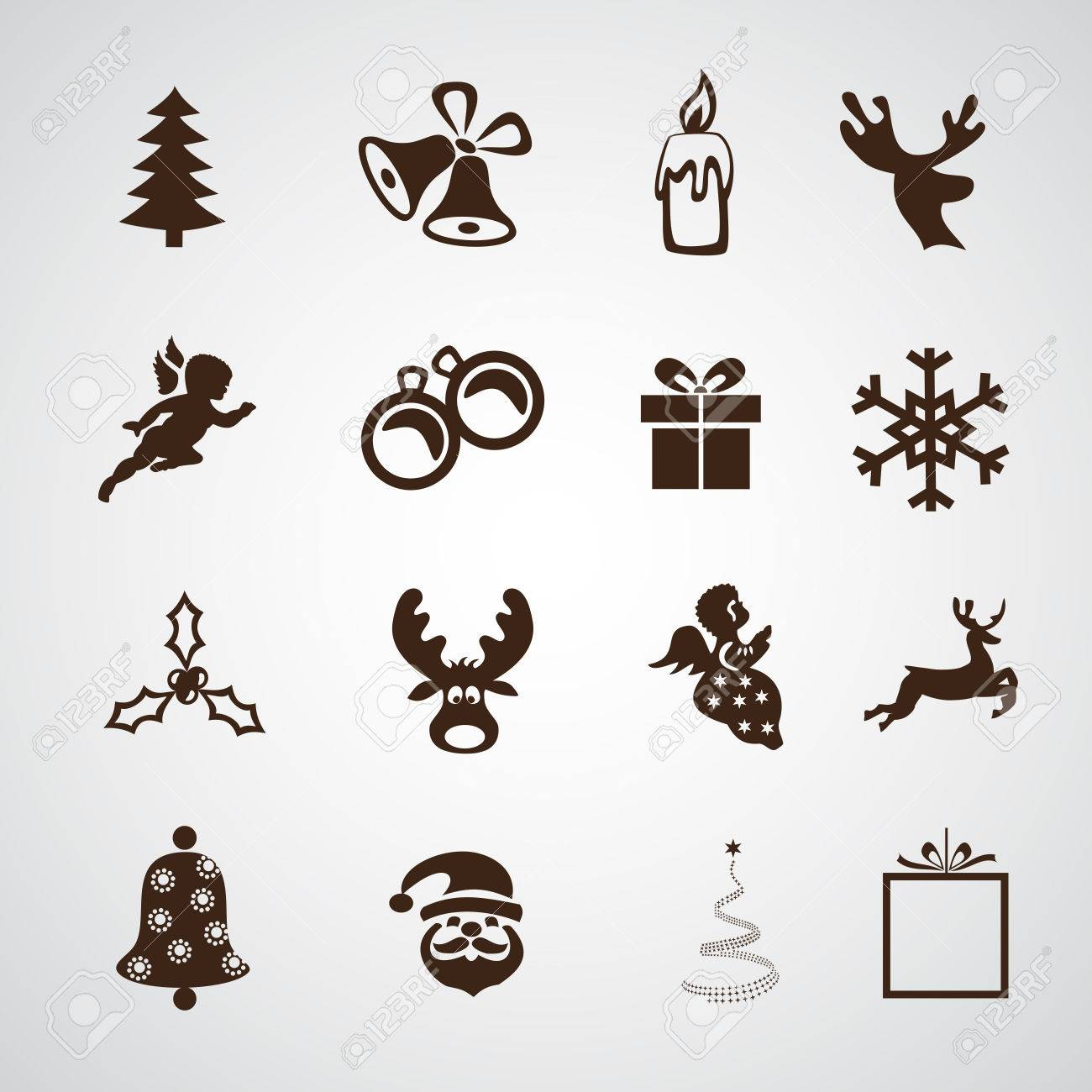 Christmas Icon.Simple Merry Christmas Icon Vector Illustration Design