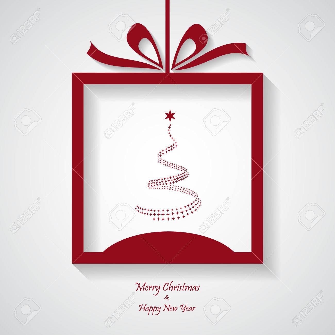 Simple Merry Christmas Card, Modern, Vector, Illustration Royalty ...