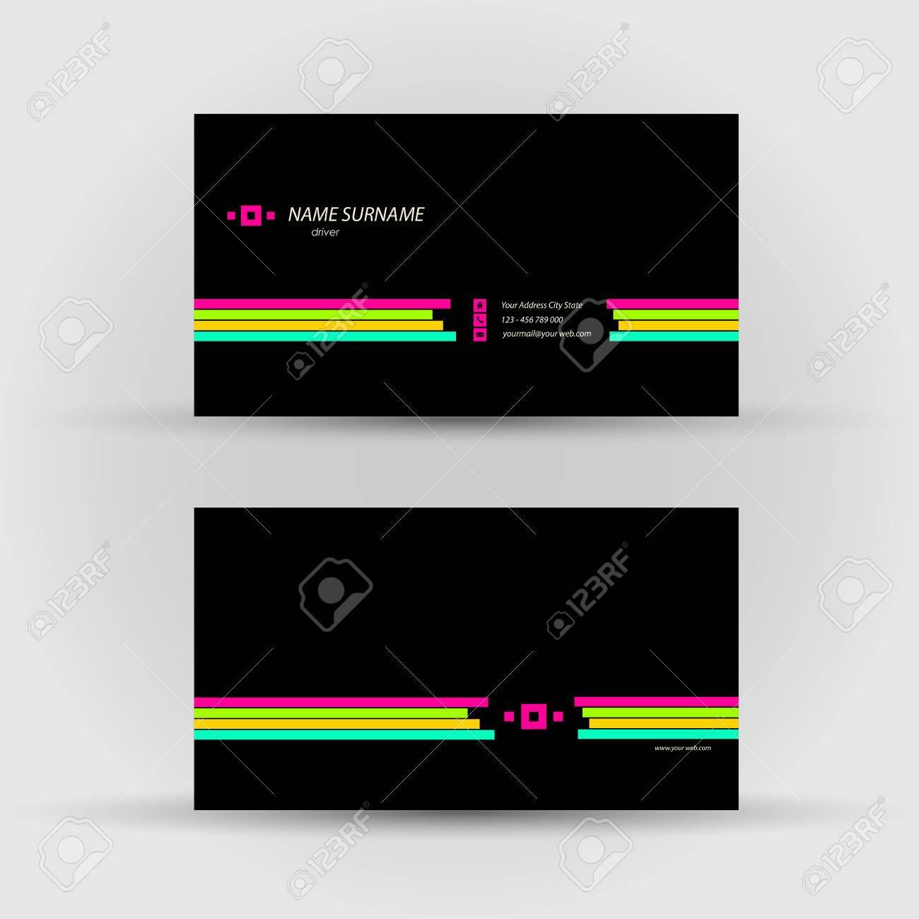 Set of modern vector business card template front and back set of modern vector business card template front and back side stock vector 35171699 reheart Gallery