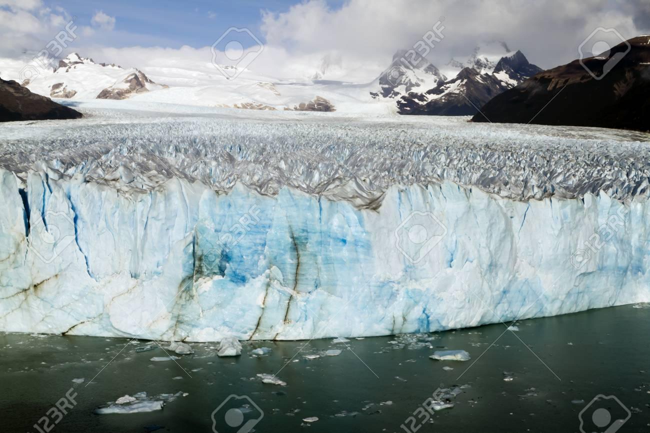 The Perito Moreno Glacier Calving into Lago Argentino, Los Glaciares National Park, El Calafate, Patagonia, Argentina Stock Photo - 17797844