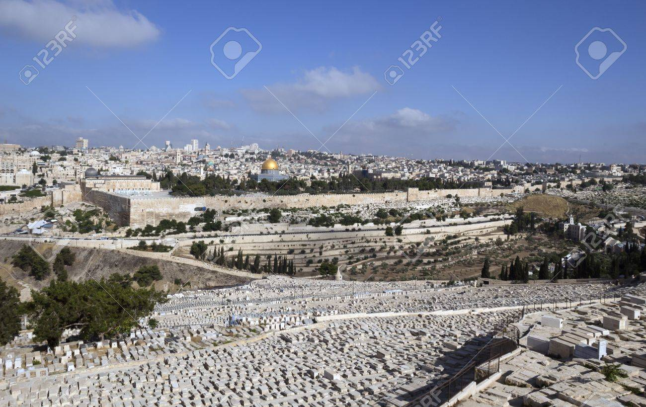 Israel, Jerusalem - view from Mount of Olives Stock Photo - 20446888