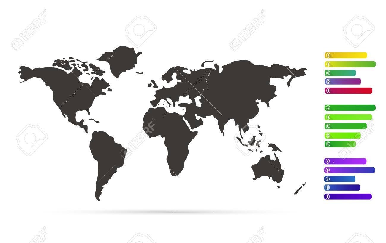 Black world map illustration with labels vector eps 10 royalty free black world map illustration with labels vector eps 10 stock vector 38907728 gumiabroncs Images