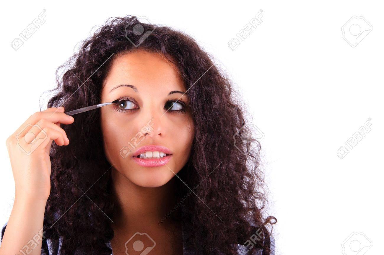 Make-up applying  Eye shadow brush Stock Photo - 14604994