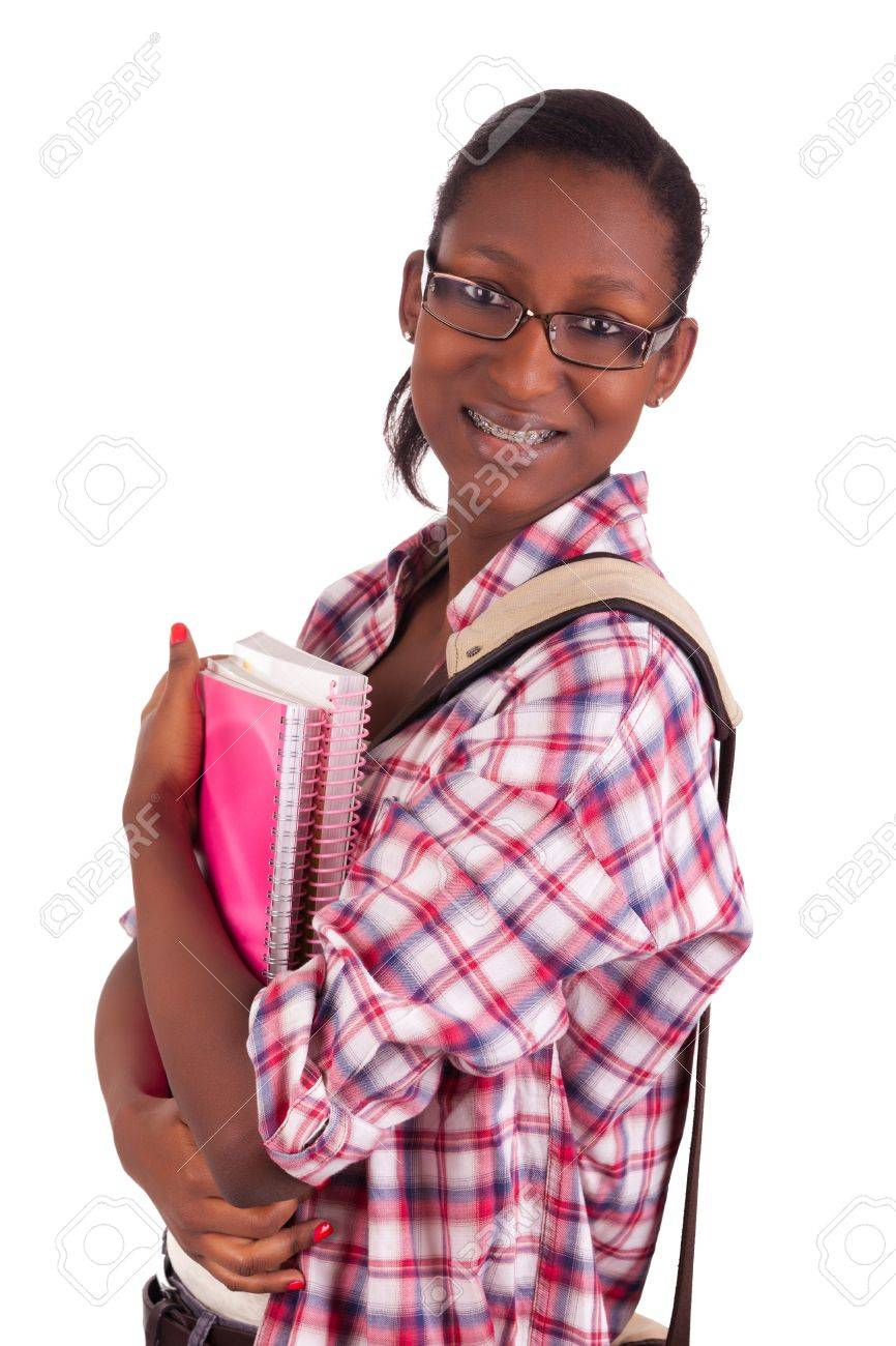 College student young African American Stock Photo - 18068680