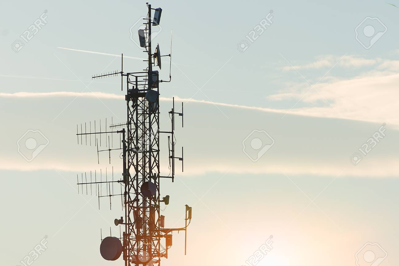 High repeater television antennas
