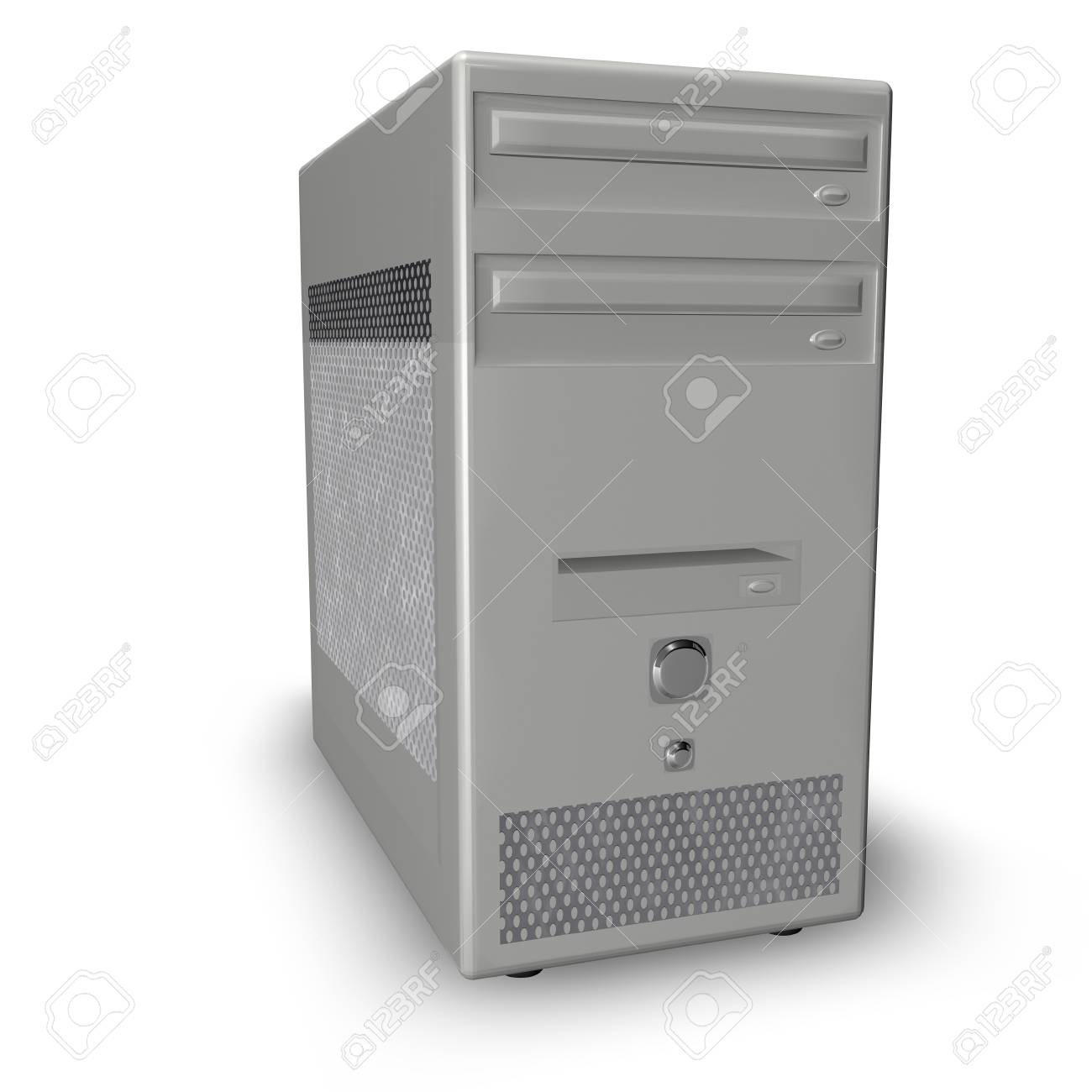 computer case isolated on white background Stock Photo - 3979513