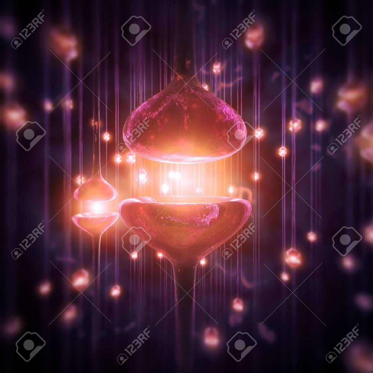 3d image of a synapses Stock Photo - 6382604
