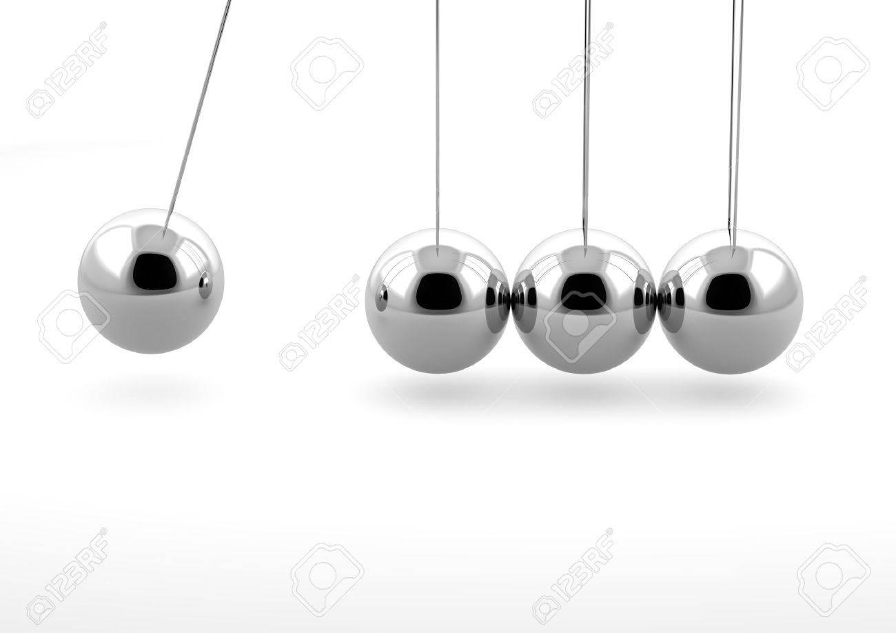 3d newton pendulum isolated on white background Stock Photo - 9817557