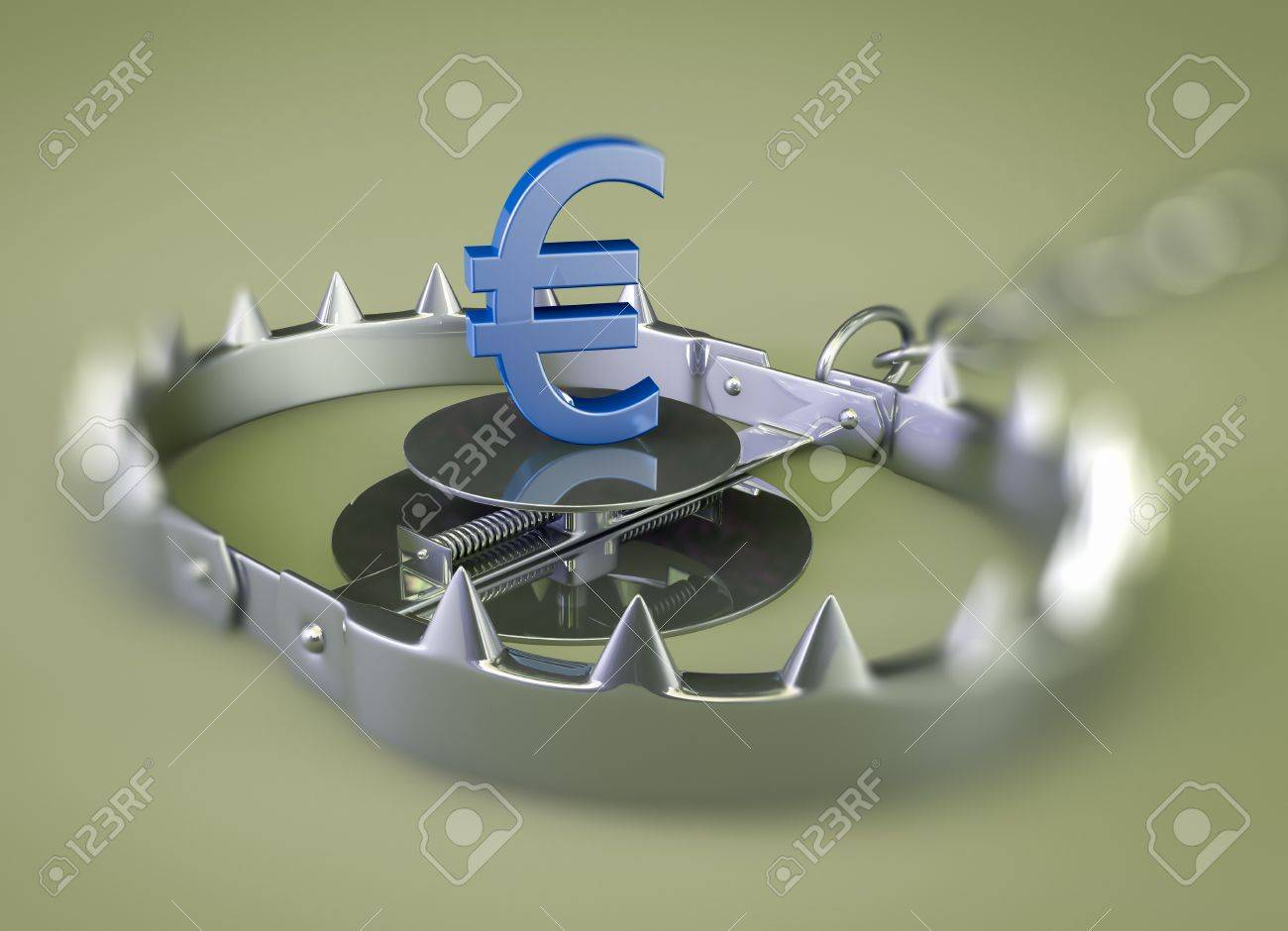 render of a bear trap with euro lure Stock Photo - 15923003