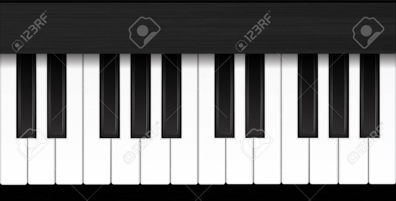 Piano Vector Illustration Stock