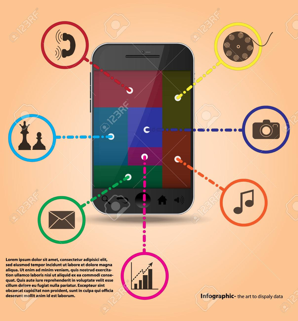 Infographics Templates smartphone services Stock Vector - 27368523