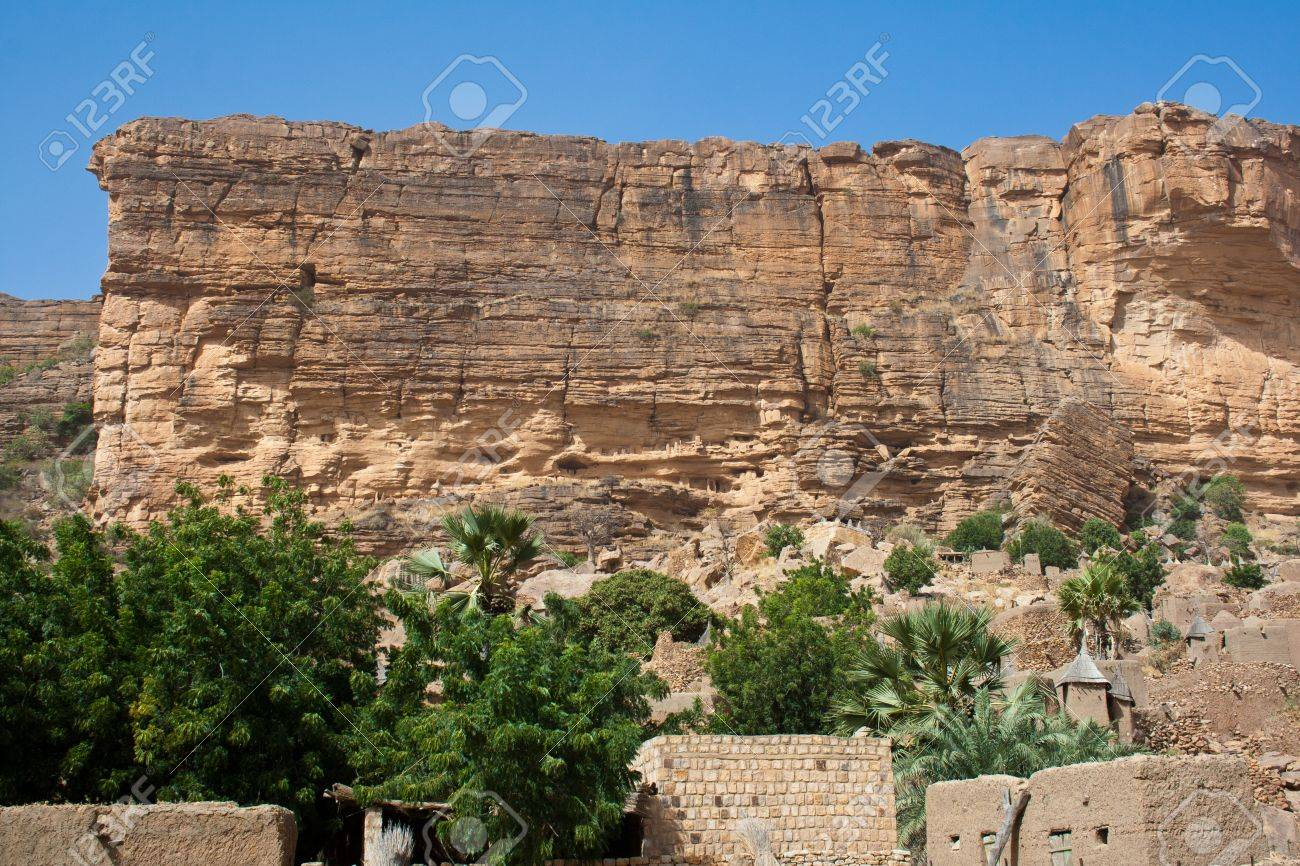The Bandiagara Escarpment Is An Escarpment In The Dogon Country Stock Photo Picture And Royalty Free Image Image 11066346