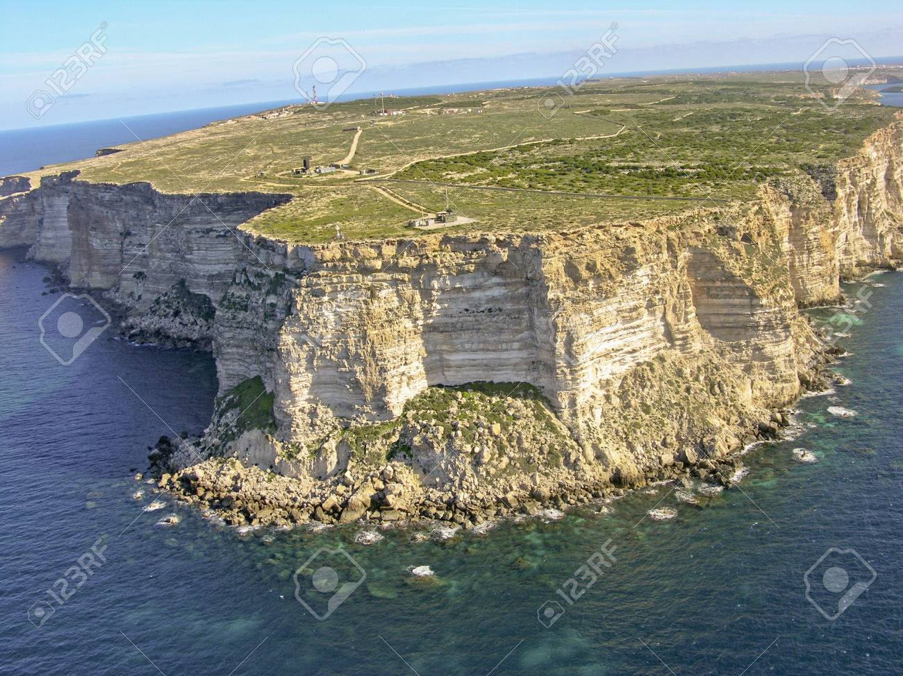 Promontory, Cliff In Sicily Island Stock Photo, Picture And ...