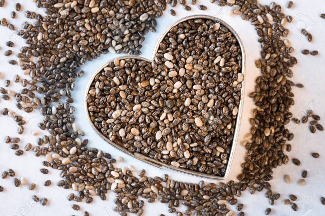 Heart Healthy Chia Seeds Stock Photo, Picture And Royalty Free ...