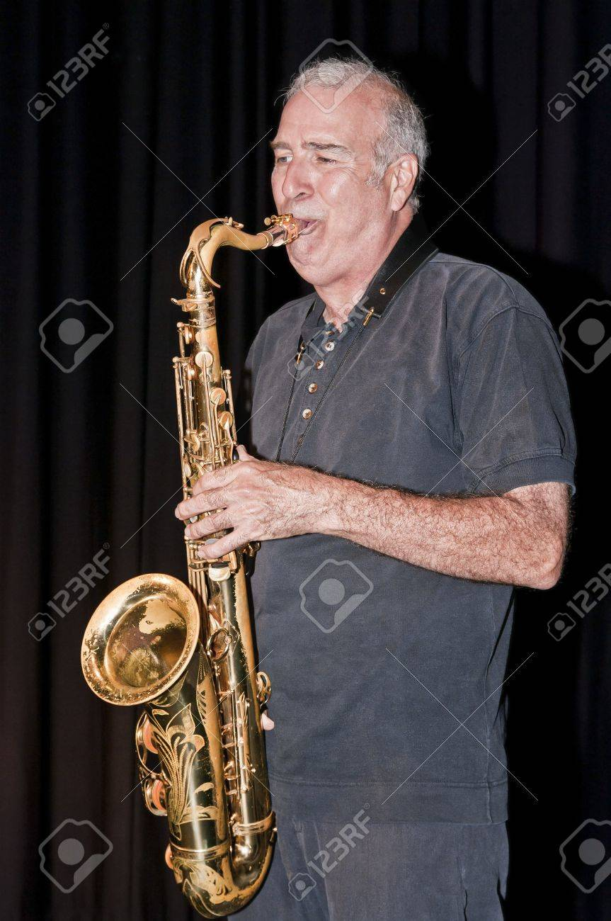 Smooth saxophonist Rene Lavoie playing at the National Art Centre in Ottawa, Canada Stock Photo - 13731484