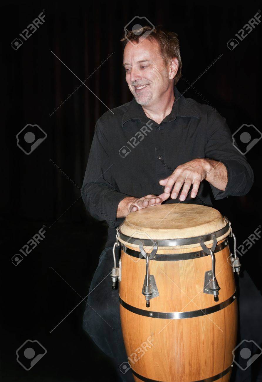 Percussionist René Fortier playing the National Art Centre in Ottawa, Canada. Stock Photo - 13731453