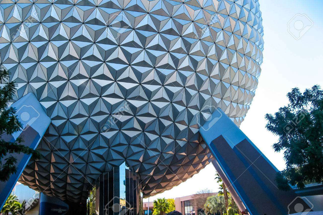 spaceship earth at epcot walt disney world stock photo picture and