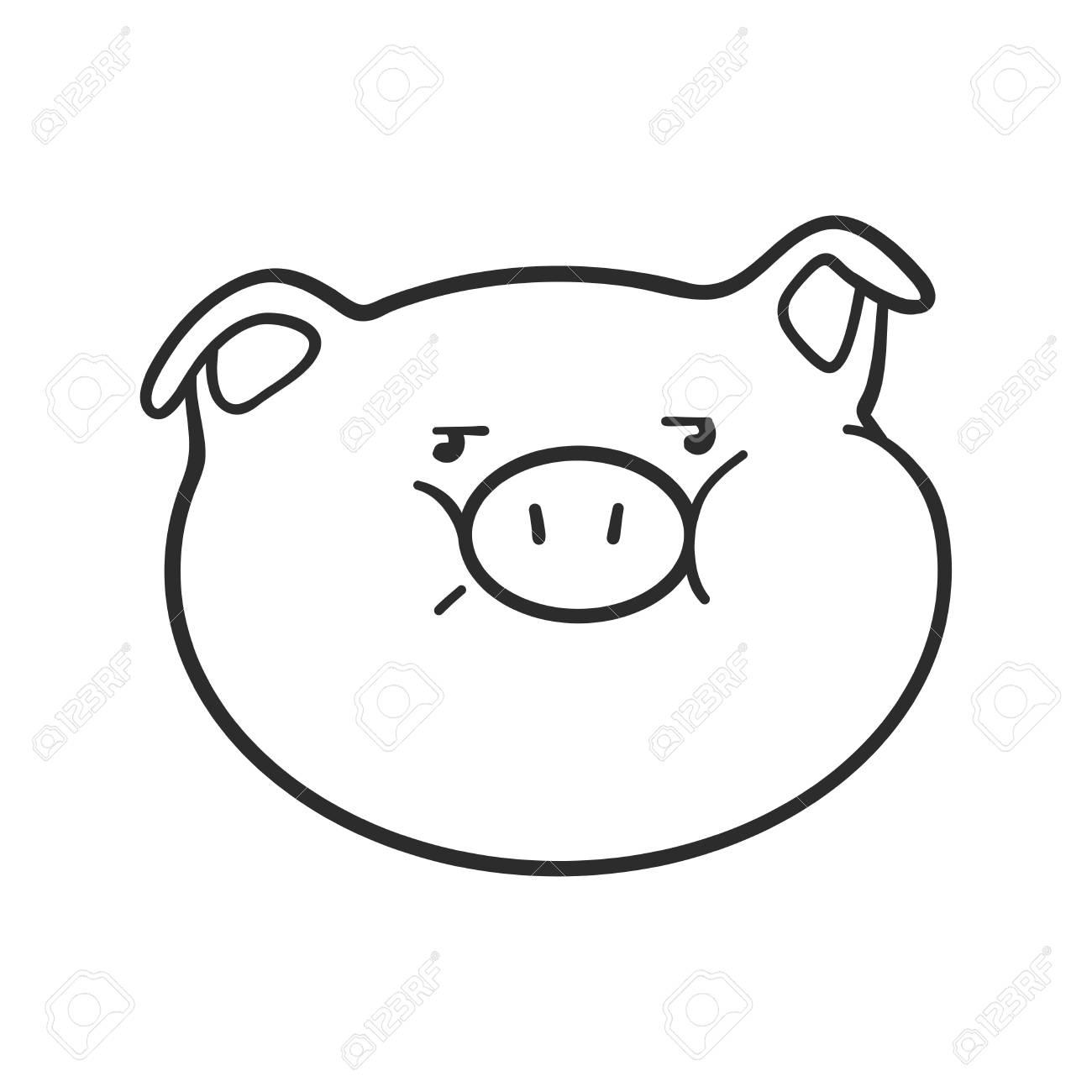 - Emoji Pig For Coloring Book. Emoticon Icon Royalty Free Cliparts