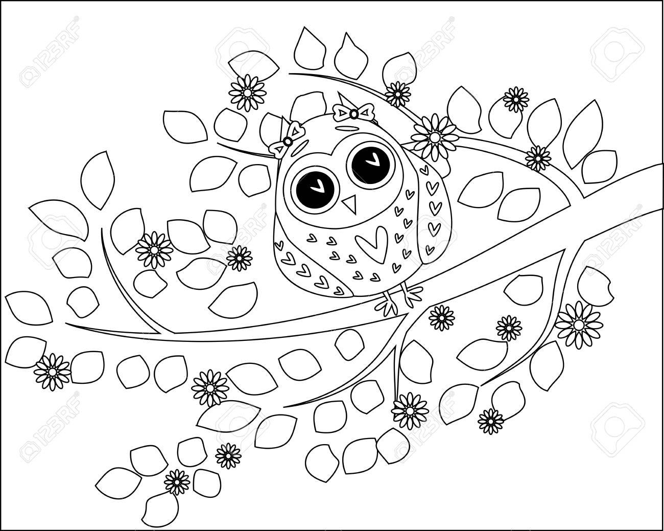 Libro Para Colorear Para Adultos Y Niños Mayores Colorear La Página Con El Gato Y El Carácter Del Zentangle Dibujo Del Arte En El Estilo Zentangle