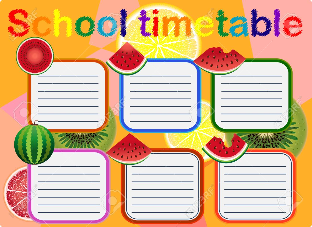 school timetable a weekly curriculum design template scalable