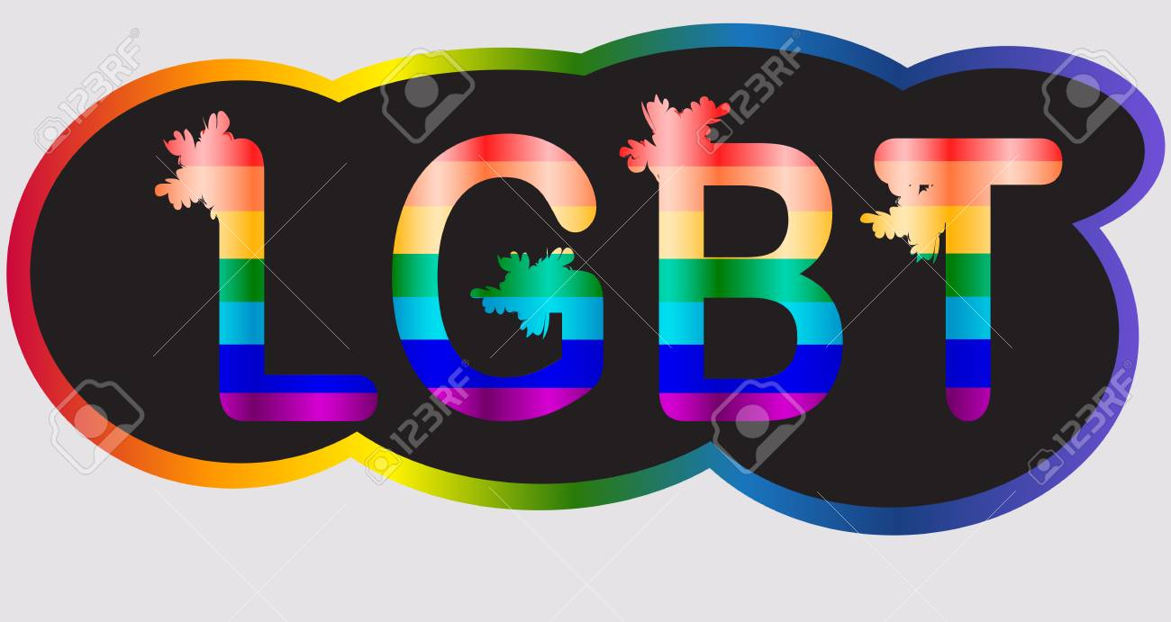 LGBT - inscription in rainbow letters, lgtb concept - 112471449