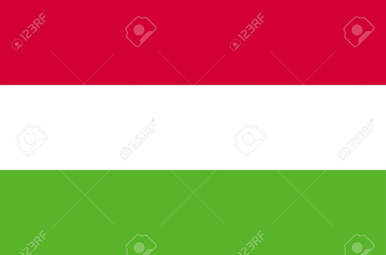 Hungary flag, official colors and proportion correctly. National Flag of Hungary. - 126657252