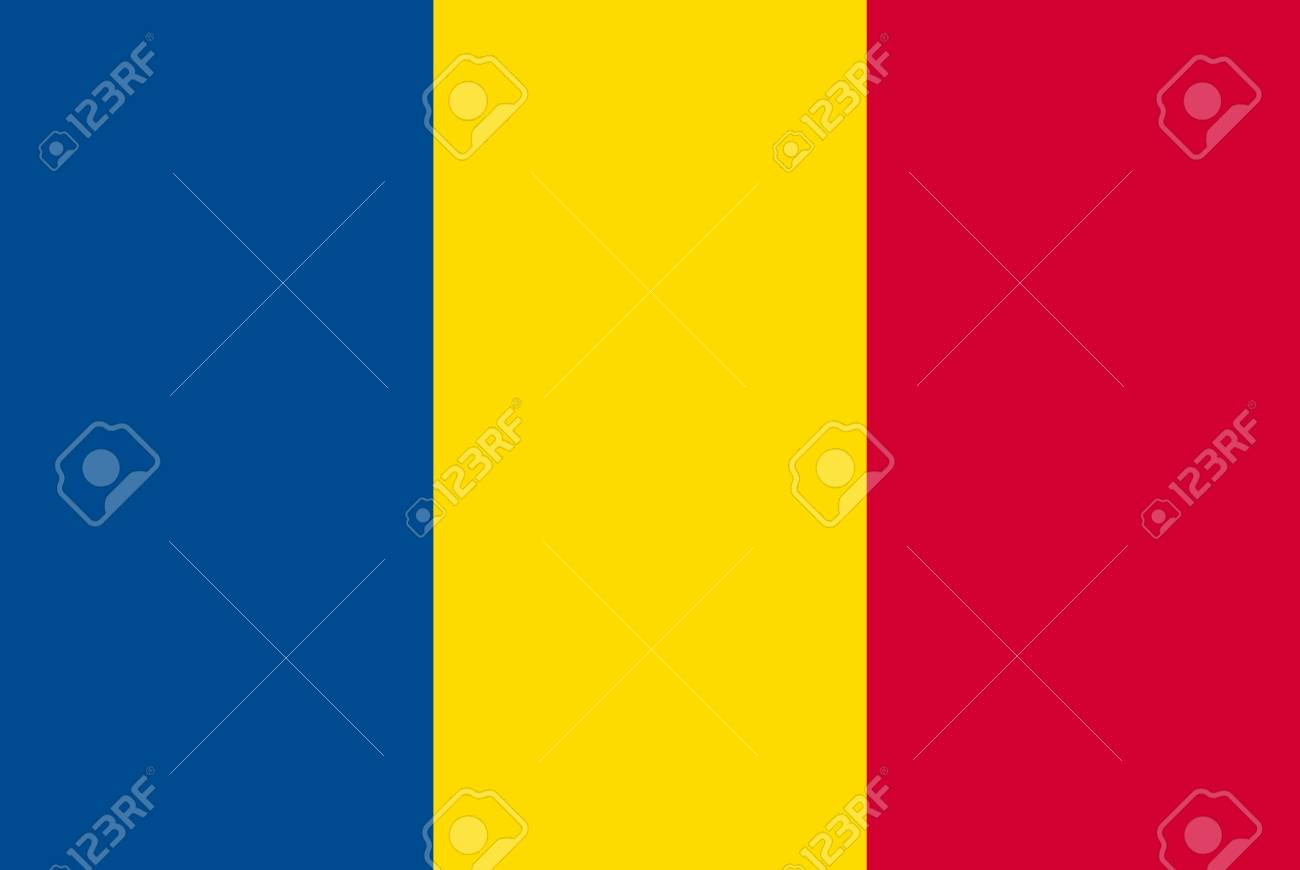 Romania flag, official colors and proportion correctly. National Romania flag. - 126657311
