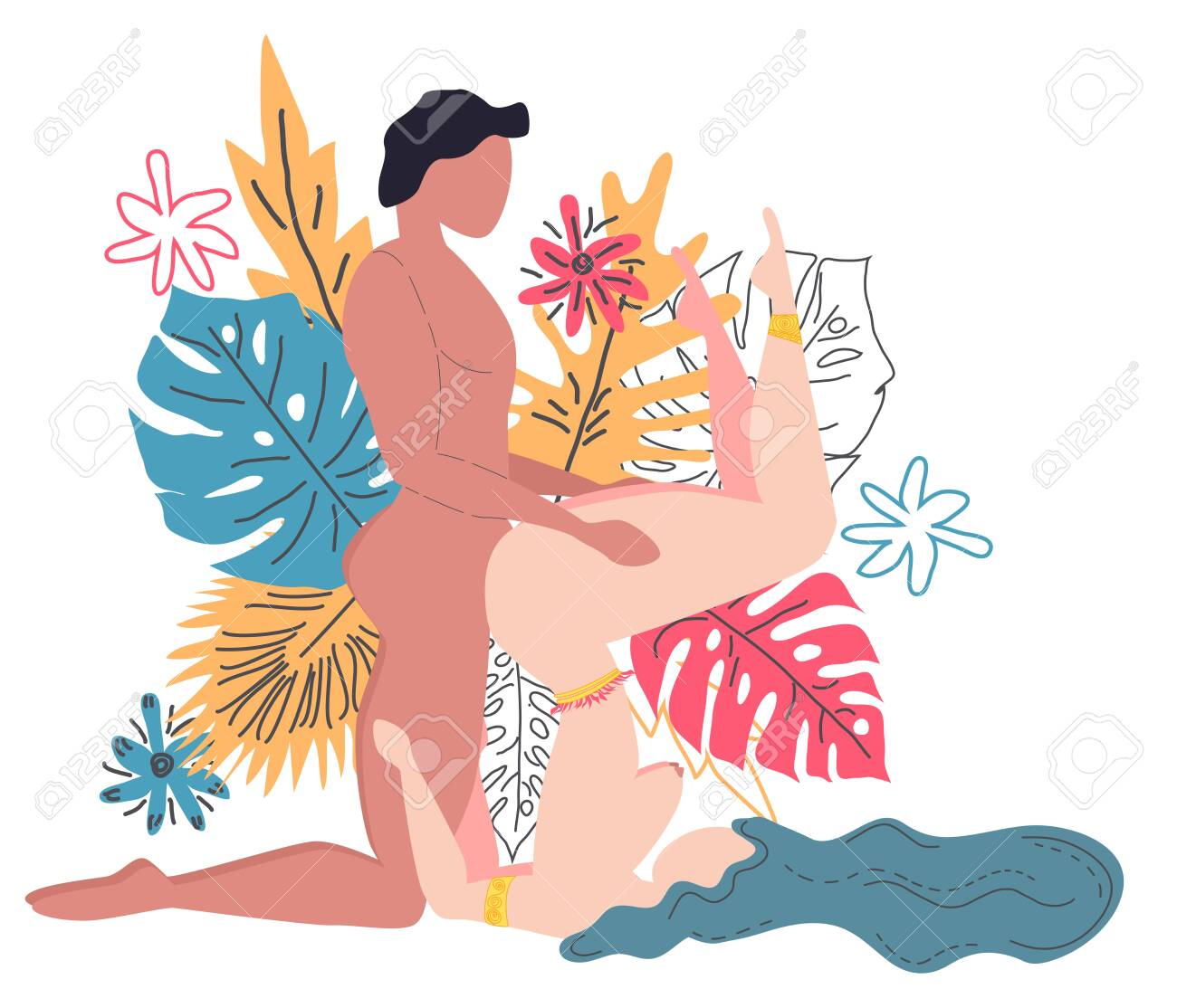 Kama Sutra, a man and a woman have sex. The art of love. Sexual..