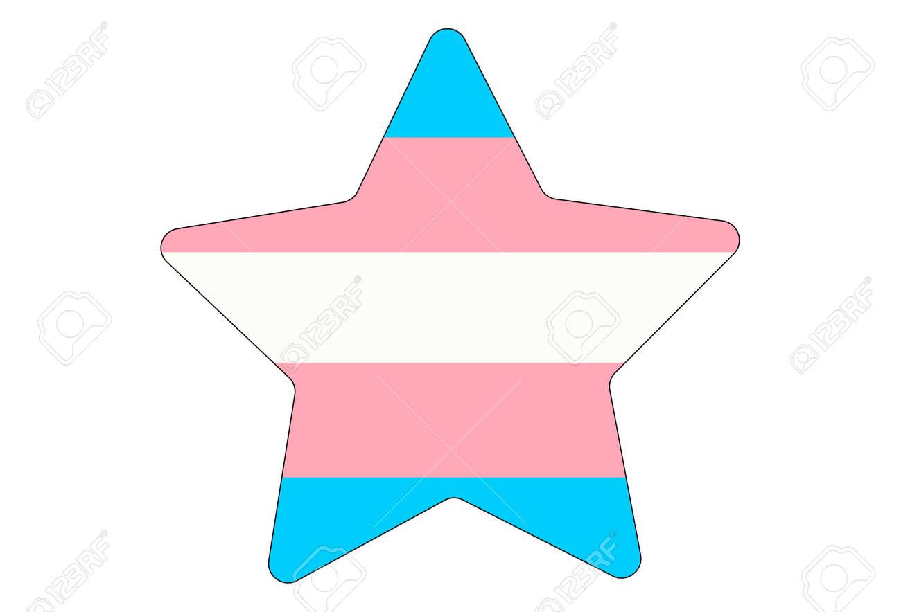 LGBT pride flag, Transgender PRIDE. Multicolored peace flag movement. Original colors symbol. Star shaped - 170549917