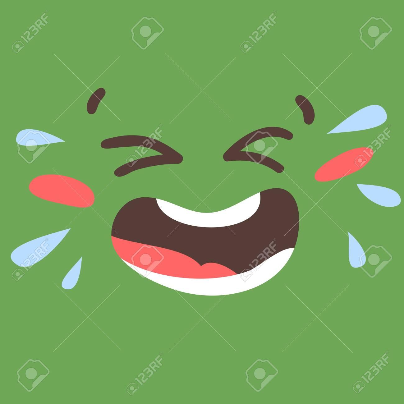 Cartoon drawing emoji. Hand drawn emotional face.Actual Vector illustration emoticon. Creative ink art work facial expression - 147359575