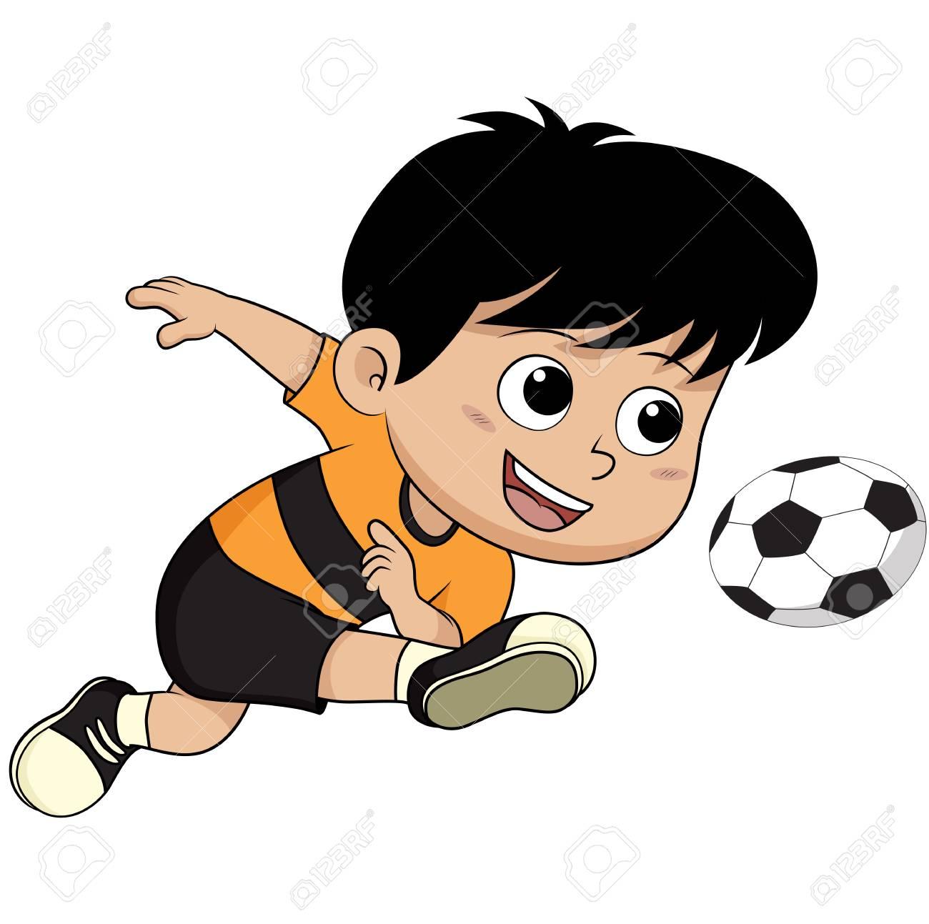 cartoon soccer kid vector and illustration royalty free cliparts rh 123rf com soccer goal cartoon images funny soccer cartoon images