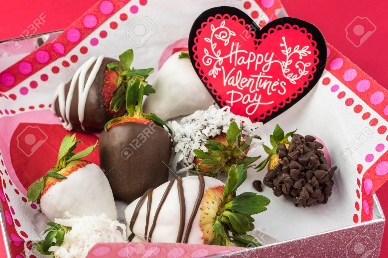 Close Up Of Chocolate Covered Strawberries In A Box Gift For Stock Photo Picture And Royalty Free Image Image 95812191
