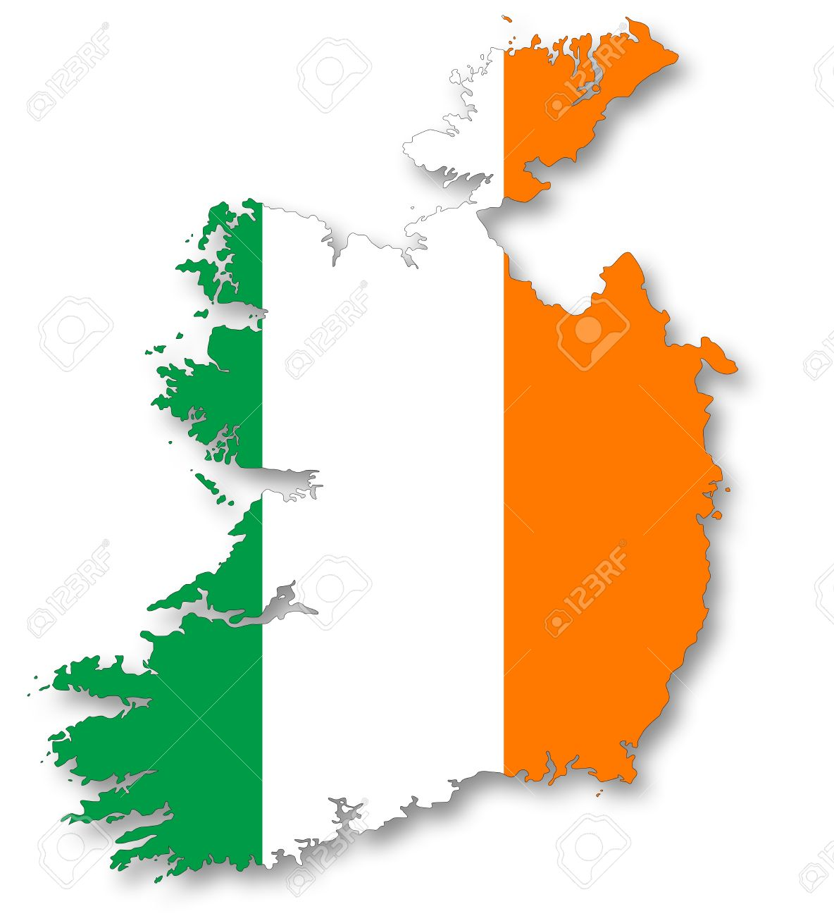 map and flag of ireland stock photo picture and royalty free